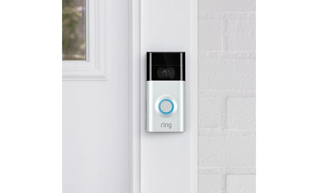 Ring Video Doorbell 2 Satin Nickel faceplate included