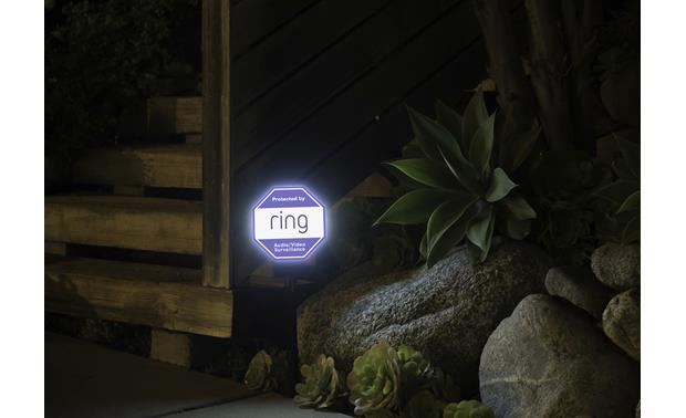 Ring Solar Security Sign Solar-powered for nighttime illumination
