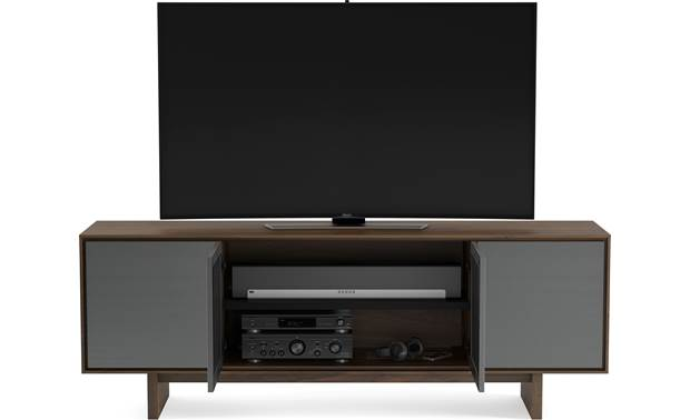 BDI Octave™ 8379GFL Toasted Walnut - center compartment can hold a sound bar (TV and components not included)