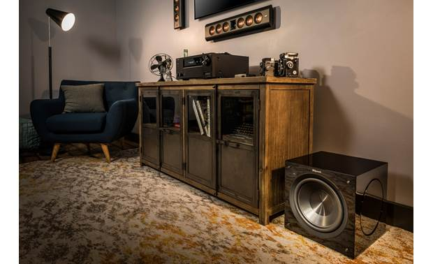 Klipsch C Series C-310ASWi Shown as part of a Klipsch home theater system