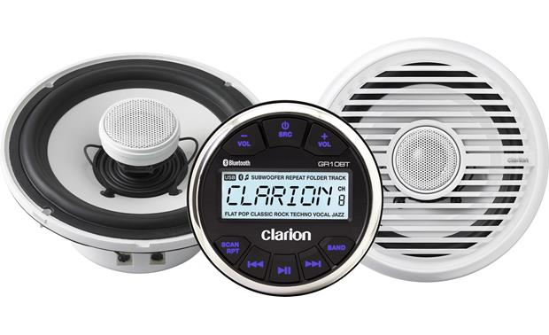 Clarion GR10B1 marine receiver/speaker package