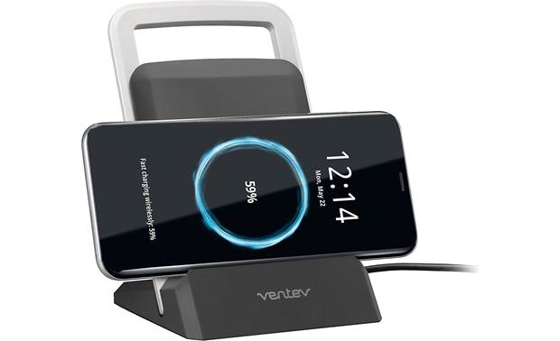 Ventev wireless chargestand Yes, it can charge sideways too (phone not included)
