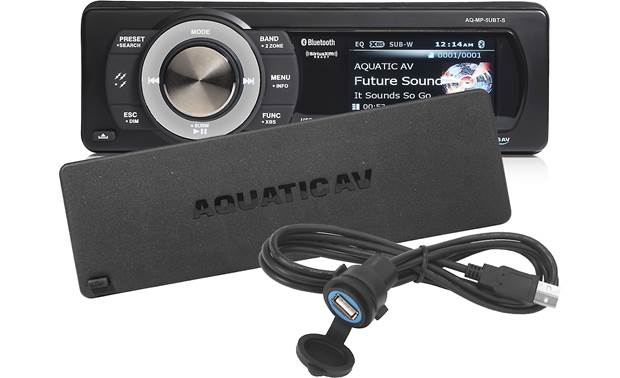 Aquatic AV AQ-MP-5UBT-S Dust cover and surface-mount USB socket included