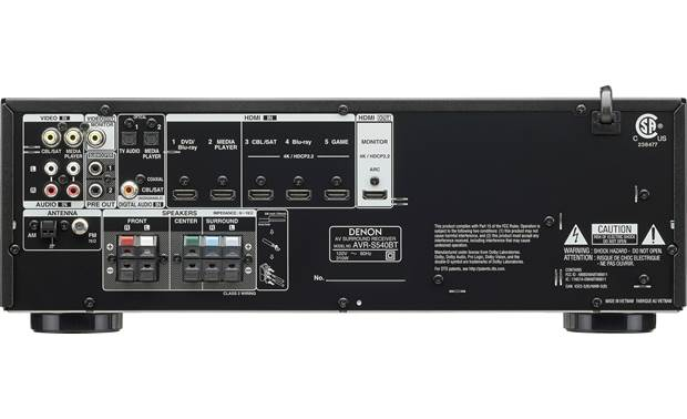 Denon AVR-S540BT Back