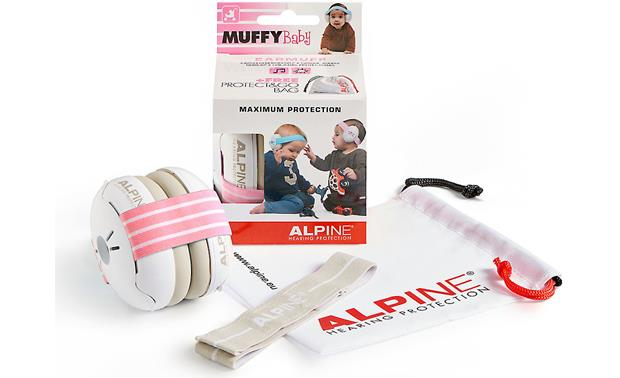 Alpine Hearing Protection Muffy Baby Elastic headband and layers of noise-reducing foam