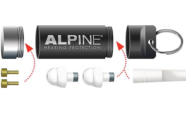 Alpine Hearing Protection MusicSafe Classic Included accessories and interchangeable filters
