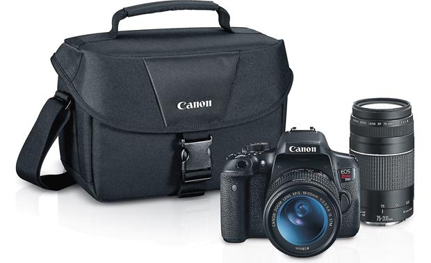 Canon T6i Two Zoom Lens Kit Shown with included accessories
