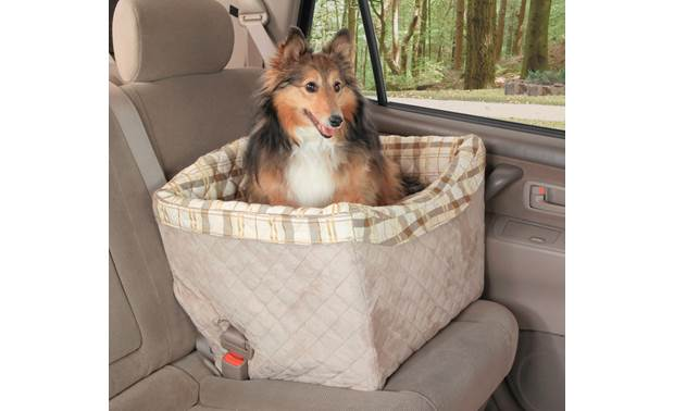 PetSafe Deluxe Pet Safety Seat Installs easily using your vehicle's front or back seat belt