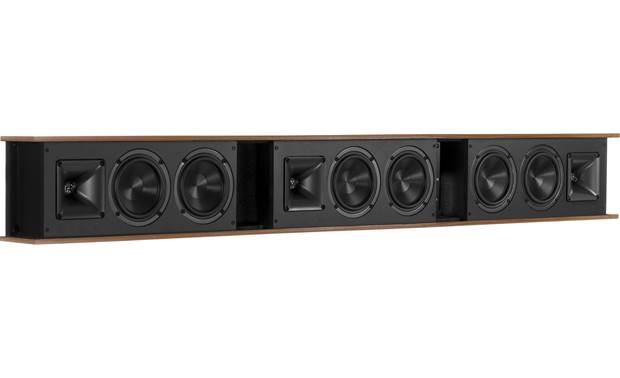 Klipsch Heritage Theater Bar Each channel has a titanium-diaphragm compression driver with Tractrix® horn and dual Cerametallic™ woofers