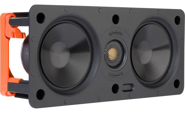 Monitor Audio W150-LCR Angled front view with grille removed
