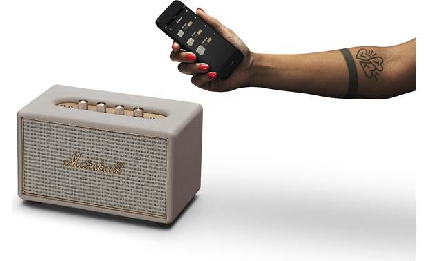 Marshall Acton Multi-room Cream - stream wirelessly via Bluetooth (smartphone not included)
