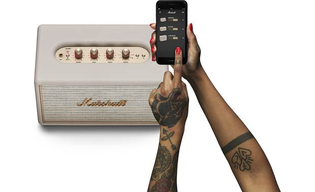 Marshall Acton Multi-room Cream - Marshall Multi-room control app lets you adjust EQ (smartphone not included)