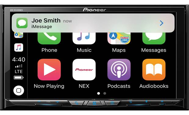 Pioneer AVH-W4400NEX Text notification with CarPlay