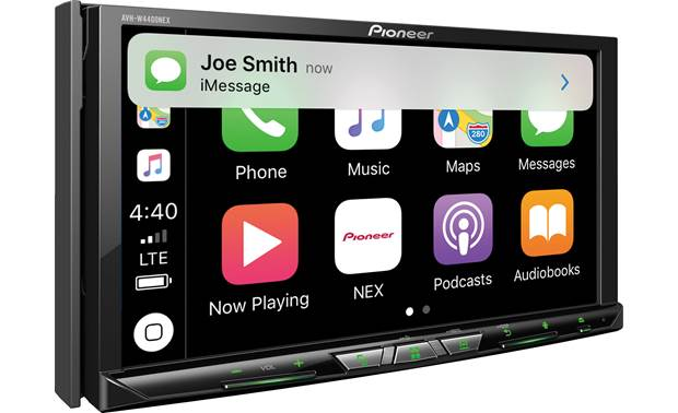 Pioneer AVH-W4400NEX Text notifications with CarPlay