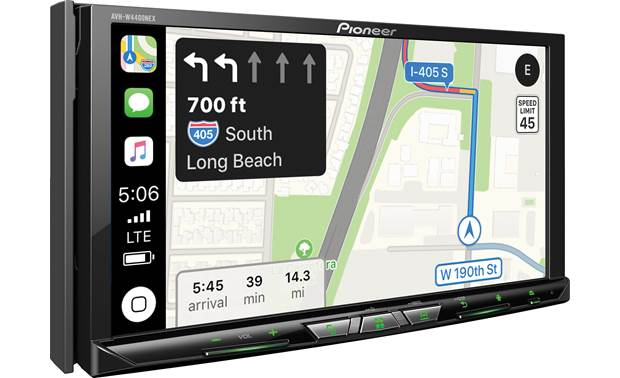 Pioneer AVH-W4400NEX  Apple CarPlay navigation pictured.