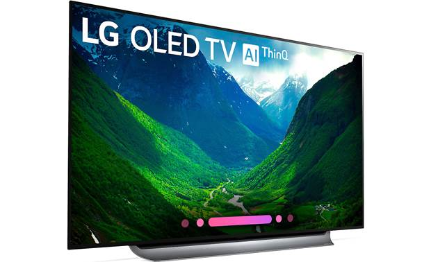 LG OLED77C8PUA Angled right