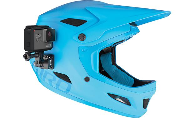 GoPro Helmet Front and Side Mount Shown as side mount