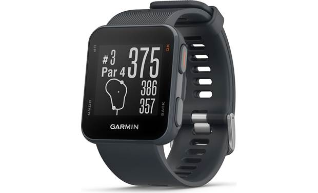 Garmin Approach® S10 — covers over 41,000 courses worldwide Approach S10 provides accurate distances.