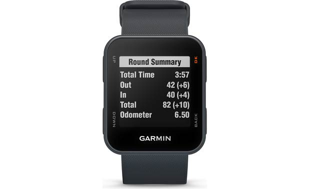 Garmin Approach® S10 Round summary