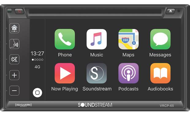 NEW SOUNDSTREAM STEREO RADIO APPLE CARPLAY /& SIRIUS XM /& BLUETOOTH W INSTALL KIT