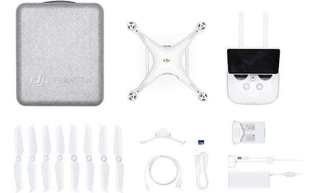 DJI Phantom 4 Pro+ V2.0 Quadcopter Shown with included accessories