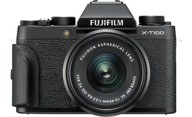 Fujifilm X-T100 Kit Shown with included handgrip