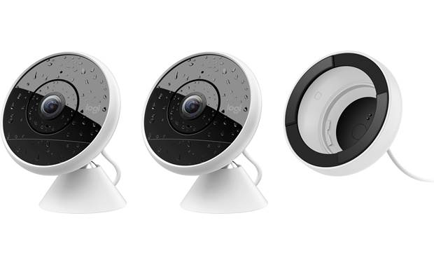 Logitech Circle 2 Two-Camera/Window Mount Combo Pack Front