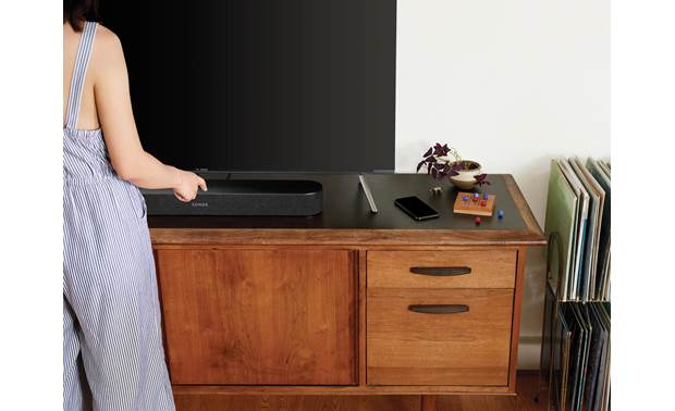 Sonos Beam 5.0 Home Theater System with Play:1 Speakers Black - top-mounted control buttons (TV not included)
