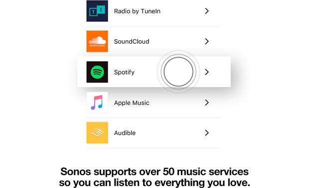 Sonos Beam 3.1 Home Theater System Music services