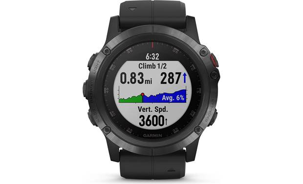 Garmin fenix 5X Plus Sapphire Elevation profiles