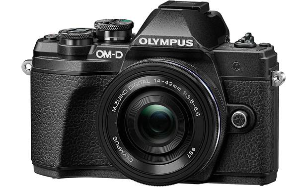 Olympus OM-D E-M10 Mark III Kit Angled front view