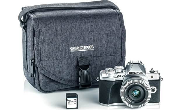 Olympus OM-D E-M10 Mark III Kit Shown with included accessories