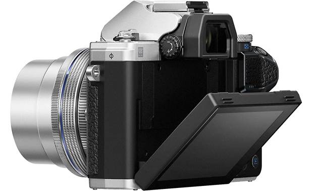 Olympus OM-D E-M10 Mark III Kit Shown with touchscreen tilted downward