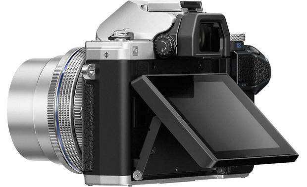 Olympus OM-D E-M10 Mark III Kit Shown with touchscreen tilted upward