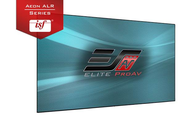 Elite Screens Aeon AR100DHD5 Screen surface is ISF-certified to display accurate colors