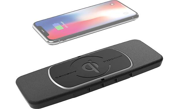 Scosche GMQ01 This Scosche wireless Qi charger fits in the center console location in your vehicle (phone not included)