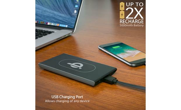 Scosche QiDock Powerbank The wireless charging pad doubles as a battery backup when it's detached from the dock