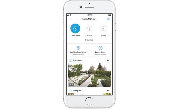 Ring Alarm Starter Home Security Kit The free mobile app allows you to monitor and control your Ring products from wherever you are