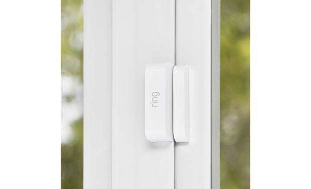 Ring Alarm Starter Home Security Kit Contact sensors let you know when a door or window is opened