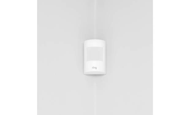 Ring Motion Detector Mounts easily on walls or in corners