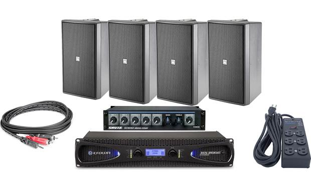 JBL Pro Gym Sound System Bundle Front