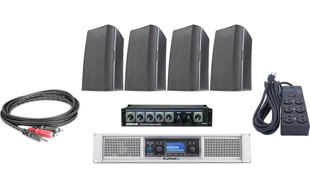 QSC Gym Sound System Bundle Front