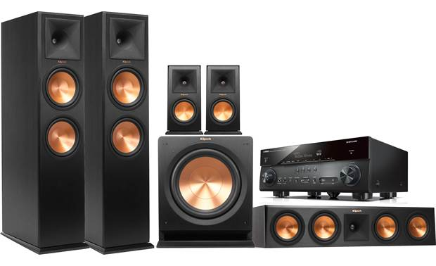 Klipsch/Yamaha 5.1 Home Theater System Front