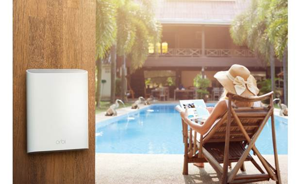 NETGEAR Orbi Tri-Band Outdoor Wi-Fi® Satellite Wi-Fi by the pool? You betcha.