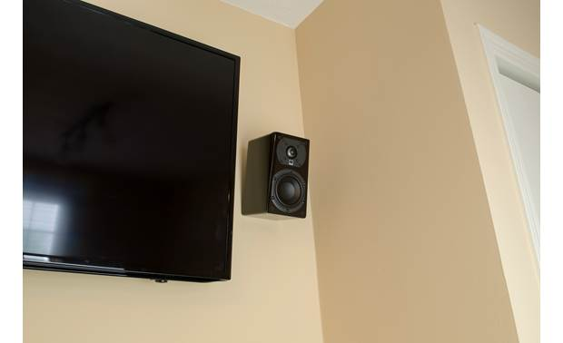SVS Prime Satellite Mounted on a wall, for home theater