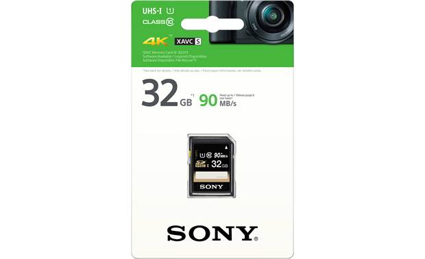 Sony SDHC Memory Card Shown with packaging