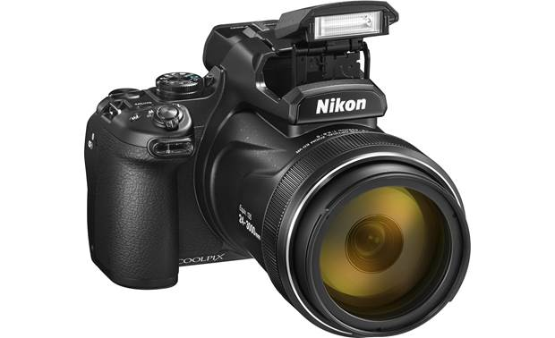 Nikon Coolpix P1000 Shown with built-in flash deployed
