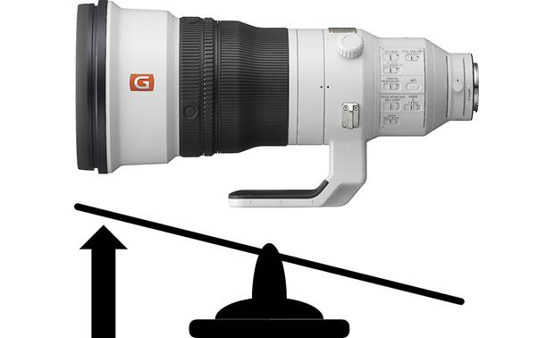 Sony FE 400mm f/2.8 GM OSS Balanced, rear-weighted design for improved handling
