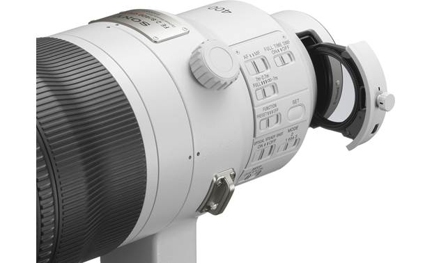 Sony FE 400mm f/2.8 GM OSS Drop-in filter slot accepts 40.5mm filters