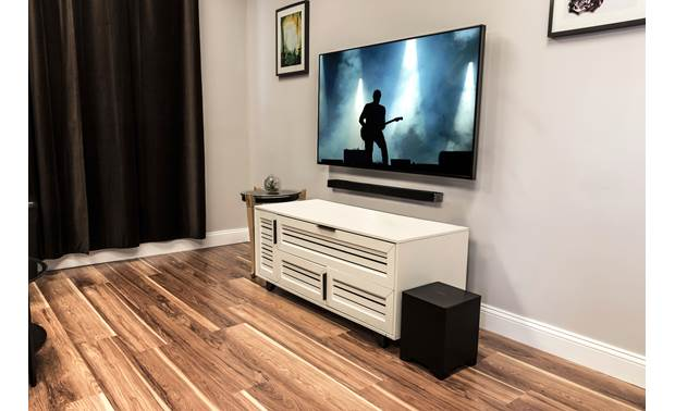 Integra DLB-5 Sound bar has keyhole slots for wall-mounting